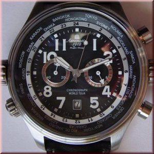 "Aeromatic A1113 Pilot Defender Chronograph ""World-Tour"" Watch"