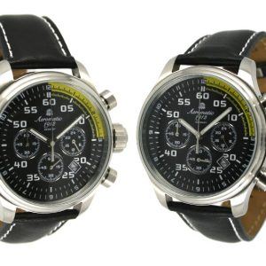 "Aeromatic A1203 XXL-Pilot ""World-Tour"" Chronograph Watch"