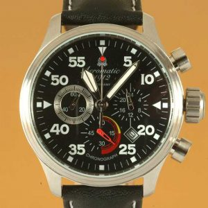 Aeromatic A1229 Military Aviator Observer Chronograph Watch