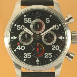 Aeromatic A1235 Military Aviator Observer Chronograph 4-dial Watch