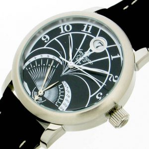 Aeromatic A1244 Flying back (Retrograde) Vintage (black) Watch