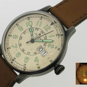 Aeromatic A1254 WWII Retro Aviator Officer Watch