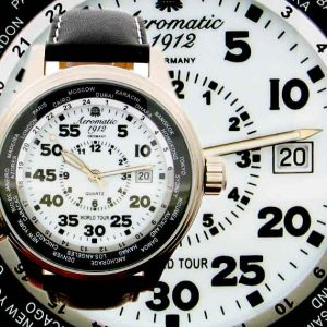 "Aeromatic A1268 Classic Luminous Pilot ""World-Tour"" Watch"