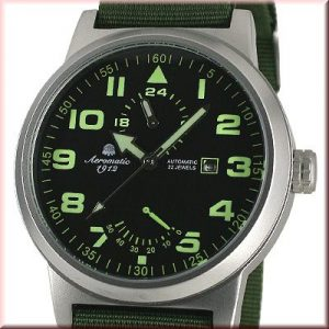 Aeromatic A1351 XL Retro-Design Pilot 24H 1912 Watch
