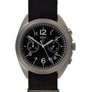 MWC NATO Pattern Military Pilot Chronograph (silver case) Watch