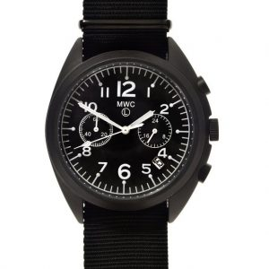 MWC PVD NATO Pattern Military Pilots Chronograph (black case) Watch
